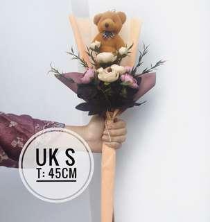 Buket bunga with teddy