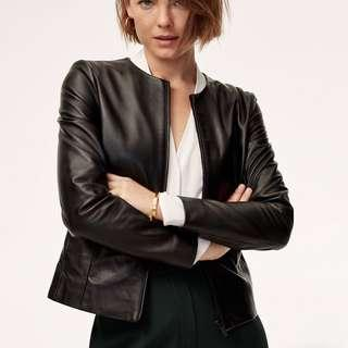 Aritzia Babaton Jett Leather Jacket XXS