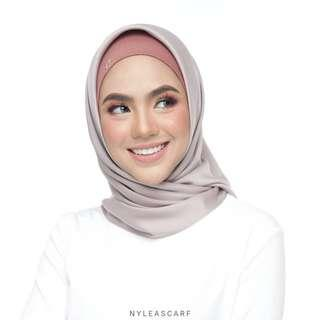 🚚 Musalmah Square Shawl by Nyleascarf - Lace (Hot Colour)