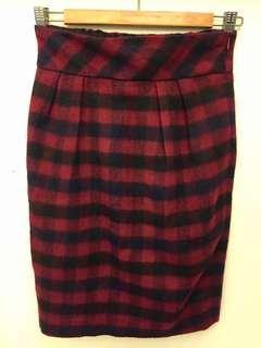 🚚 紅色格紋裙二手 便宜$50!!