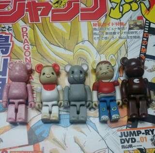 免費包平郵 Medicom toy bearbrick 100% series 12 13 SET OF 5 be@rbrick 有花痕