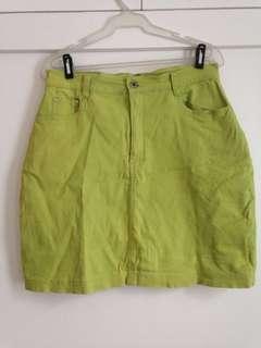TOMBOY Green Jean Skirt