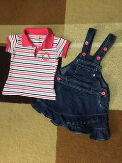 Set: Skirt Jumper with Polo