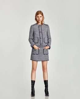 全新小香風半截裙 tweed skirt