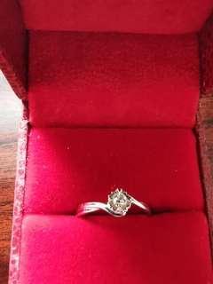 六福 鑽石戒指10號介指圈