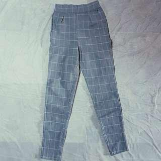 Striped Stretchy Trousers