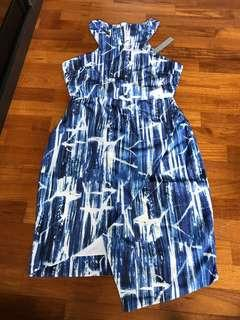 BNWT Femme Elegante Blue Halter Dress