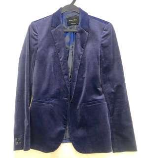 🚚 Massimo Dutti Women's Blue Blazer