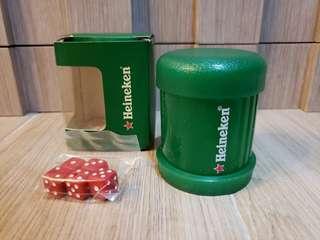 全新 喜力Heineken  迷你骰盅