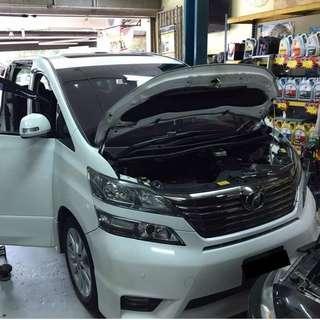 PROMOTION!! Toyota Vellfire/ Alphard Aircond Service Open Dashboard