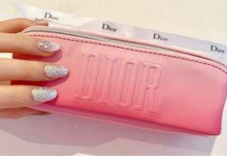 DIOR Pink Ombre Cylinder Shape Pouch