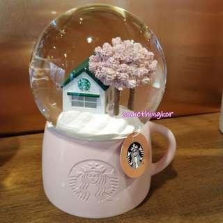 韓國 Korea Starbucks 19 Cherry blossom snow globe 水晶球 裝飾