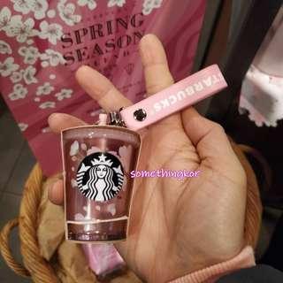 韓國 Korea Starbucks 19 Cherry blossom coldcup key chain 鎖匙扣 裝飾 吊飾