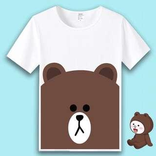 LINE Friends (Cony ❤️ Brown) Short Sleeve & Long Sleeve T-shirts [Part 1]