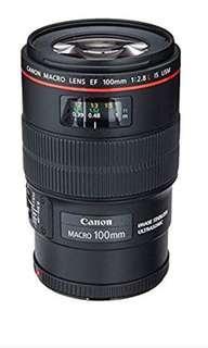Canon EF 100mm f/2.8L is USM Macro Lens for Canon Digital SLR Cameras