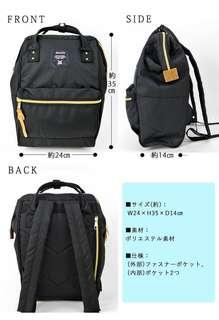 black anello backpack (100% authentic)