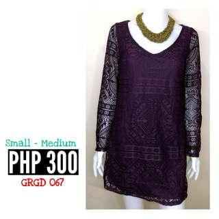 XHILARATION PURPLE LONG SLEEVE DRESS