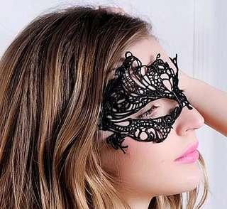Mask Topeng Wajah Penutup Mata Hitam Asimetris