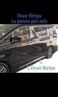 (PO) Mid Body Chrome (4 pieces of Door Strips)