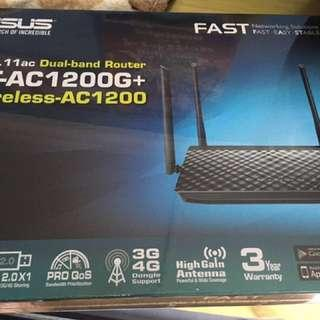🚚 NEW - ASUS Wireless Router RT-AC1200G+ Dual-Band Networking Gigabit Ethernet