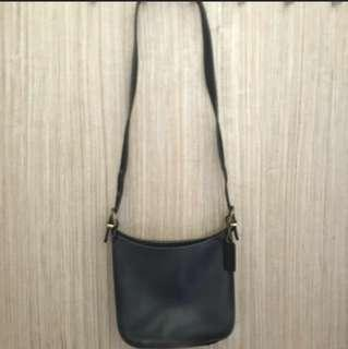 Preloved leather coach bag