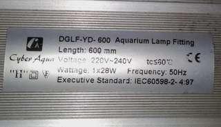 雙色魚缸燈28W