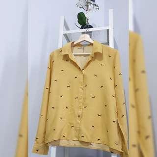 Kemeja Mustard wanita COLORBOX