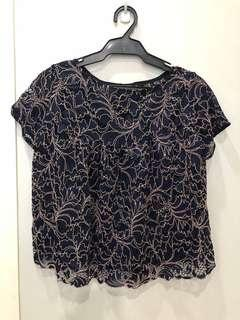 Zara Two Toned Lace Top