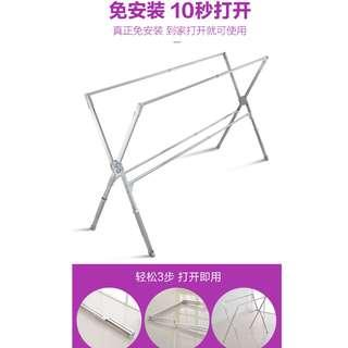 Extendable X standing clothes rack / foldable / movable hanger / horse 晾衣架 - 伸缩折叠晾衣杆
