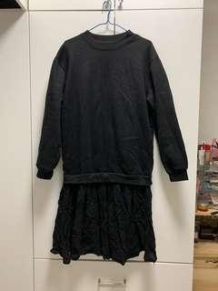 Black sweater dress 黑色衞衣裙