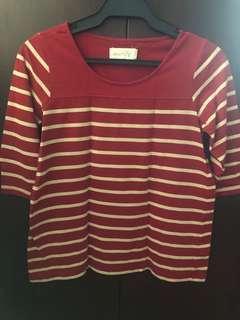 Regatta striped 3/4 sleeve top