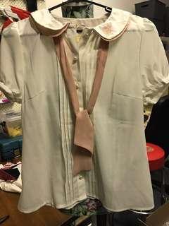 Chelmory (Japan) Short Sleeve Blouse