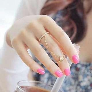 Chain peace rings fashion jewelry