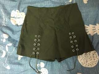 墨綠色褲裙