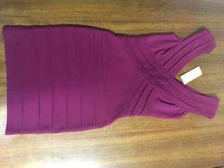 Forecast Mase V-Front Bodycon Dress