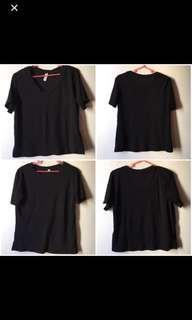 Black Shirt Top (2 pcs)