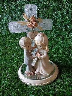 💝AUTHENTIC PRECIOUS MOMENTS Wedding Cross fingurine