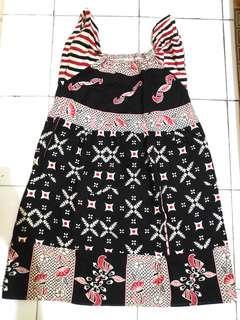 Mididress dress batik