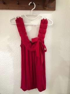 🚚 LN Topshop Origami Tulle Sleeves Magenta Pink Top