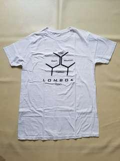 Kaos wanita putih Pradje Lombok sz M