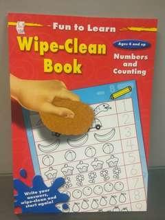 Wipe n clean book