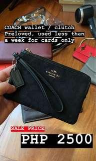 Authentic Coach Black Wallet