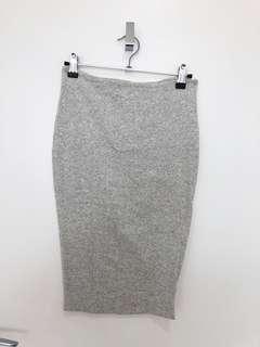 Kookai grey midi skirt