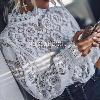 NC1540 Lace Romantic Blouse