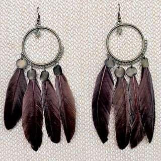 Bohemian Feather Earrings