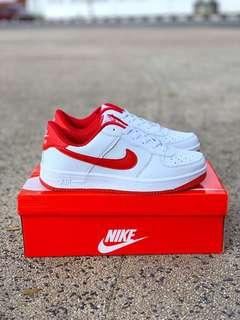 Nike Air Force White Red (Red Stripe)