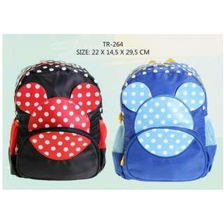 TAS RANSEL TK MOTIF MICKEY MOUSE SLETING DEPAN 264
