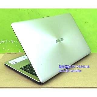 🚚 FHD 原廠保內 全新240SSD LOL全開 ASUS X542U i5-7200U 4G 獨顯 15吋 聖發二手筆電