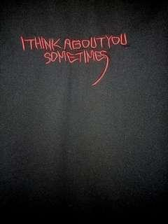 """ulzzang """"i think about you sometimes"""" black shirt"""