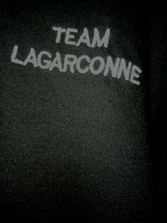 "ulzzang black ""team lagarconne"" long sleeve shirt"
